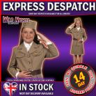DELUXE 1940'S GIRLS MILITARY UNIFORM AGE 6-8